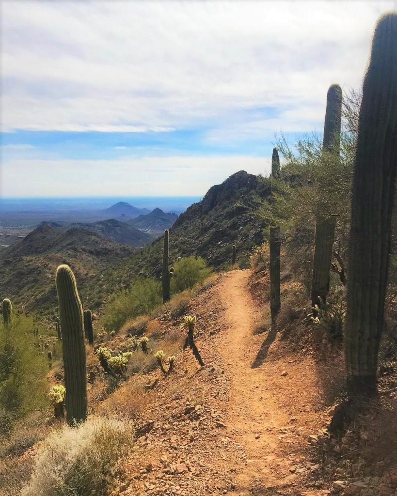 Sunrise Peak Trail, Scottsdale, hiking in AZ