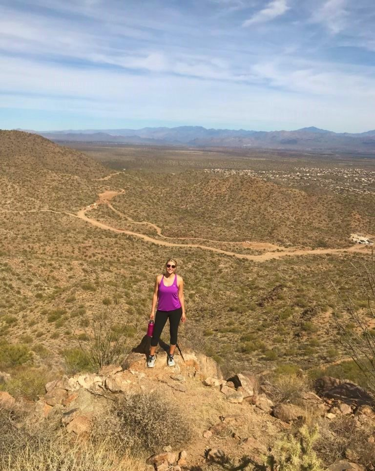Hiking Sunrise Peak Trail in Sedona, Arizona