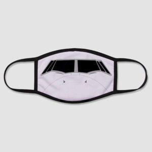 airplane face mask for aviation lovers