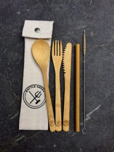 environmentally friendly,bamboo cutlery, great for travel and on the go dads