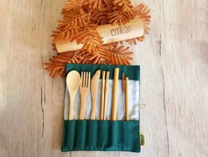 travel cutlery, silverware on the go, travel gifts, reusable cutlery for travel, gifts for flight attendants, gifts for eco-conscious travelers