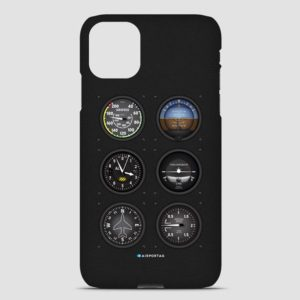 aviation themed gifts, flight instruments phone case, pilot gifts