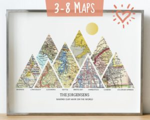 map for couples, customizeable travel gifts, best gifts for travelers, travel themed gifts for couples, travel gift, housewarming gift, wedding gift, christmas gift for travelers
