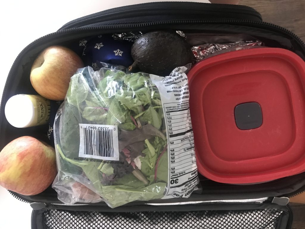 packing a lunch, eating healthy on the go, traveling with dietary restrictions, what's in your lunchbox, what flight attendants eat at work, vegetables,
