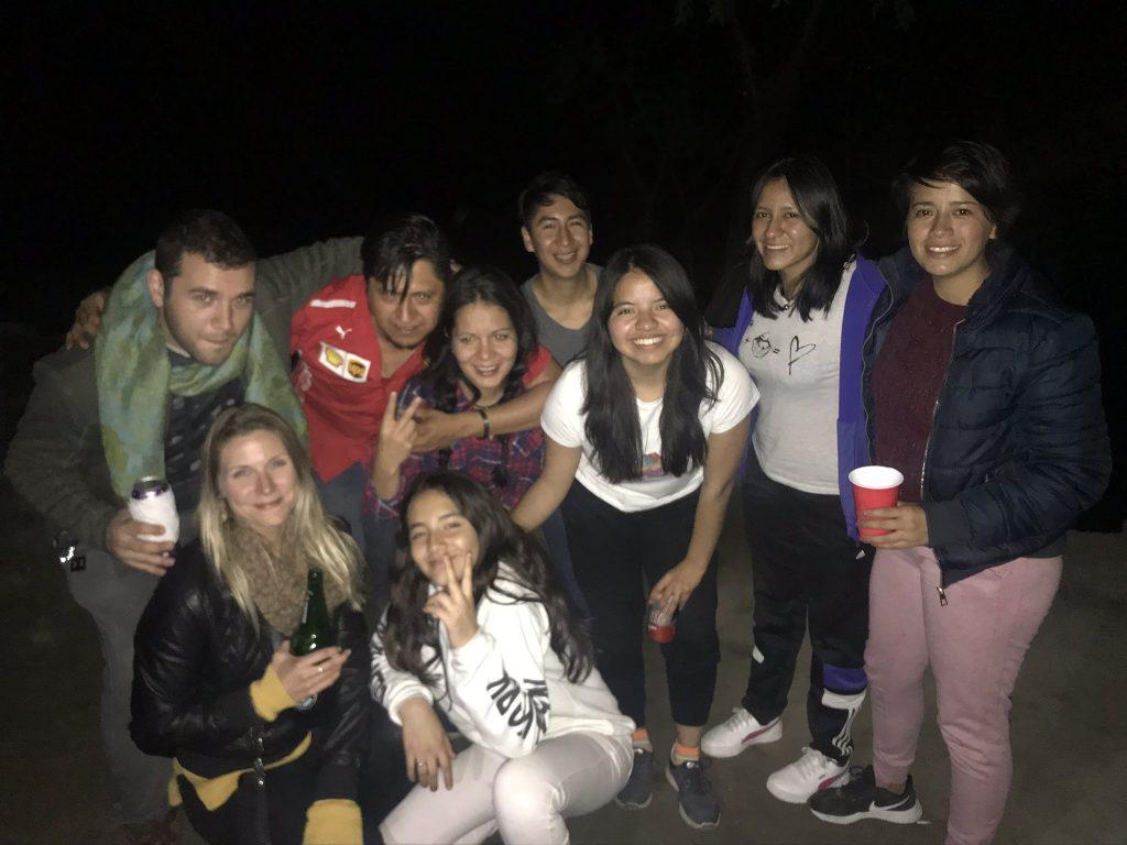 friends, camping, camping in mexico, camping at las grutas tolantongo, drinking, party, mexico