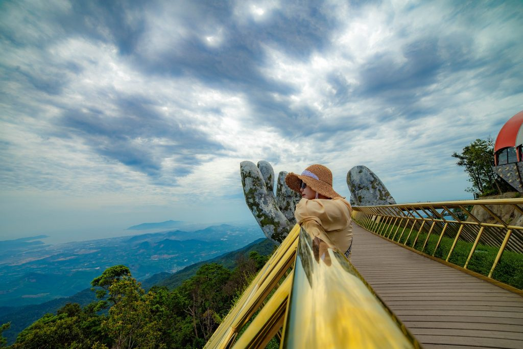travel green, eco-conscious travel, thailand, woman in nature, woman traveling, sky, earth day, travel tips for earth day, green travel tips, travel tips for the planet